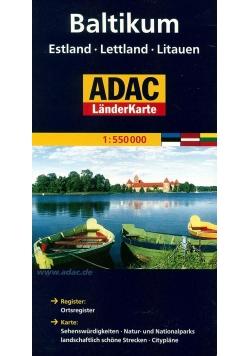 LanderKarte ADAC. Kraje Bałtyckie 1:550 000 mapa