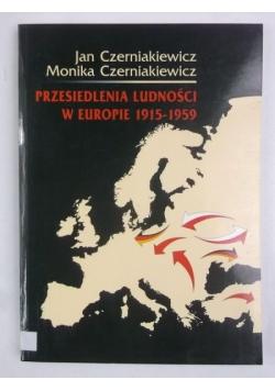 Przesiedlenia ludności w Europie 1915-1959