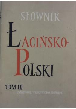 Słownik łacińsko- polski, Tom III