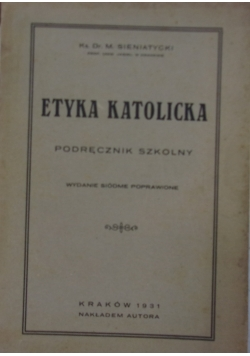 Etyka katolicka, 1931 r.