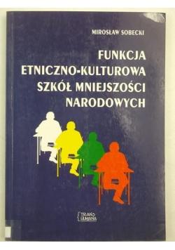 Funkcja etniczno-kulturowa szkół mniejszości narodowych