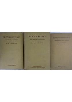 Die romische frage I -III, 1919 r.