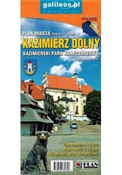 Plan miasta - Kazimierz Dolny 1:10 000