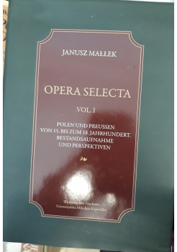 Opera selecta vol 1