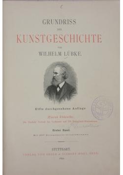 Grundriss der Kunstgeschichte, Erster Band, 1892 r.