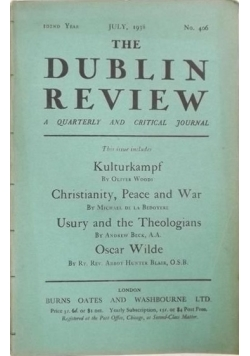 The Dublin Review: July, No. 406, 1938 r.