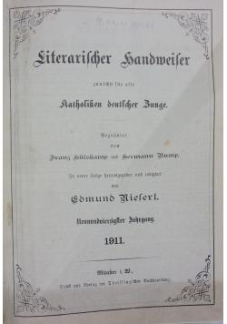 Literarischer handmeiter, katholiken deutscher Bunge, 1911r.