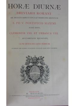Horae Diurnae. Breviarii Romani, 1883r.