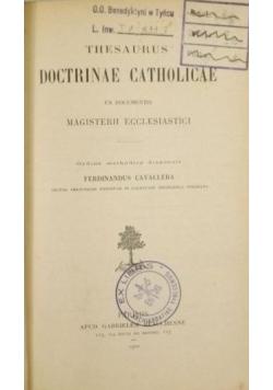Thesaurus Doctrinae Catholicae, 1920 r.