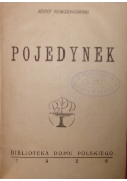Pojedynek, 1926 r.