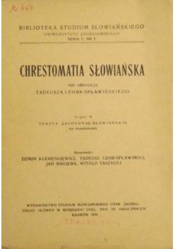 Chrestomatia Słowiańska, 1949 r.