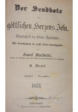 Der Seudbote des gottlichen Herzens Jesu, 9 Band, 1873 r.