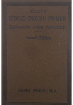 Second Middle English Primer , 1905 r.