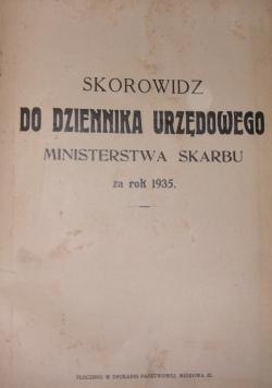 Skorowidz do dziennika urzędowego Ministerstwa Skarbu, nr. 1-36, 1935r.