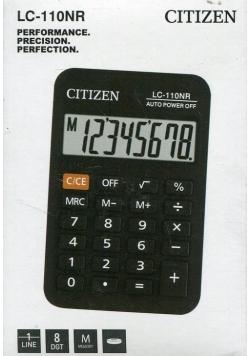 Kalkulator Citizen kieszonkowy LC-110NR 8 cyfrowy czarny