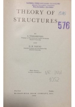 Theory of Structures, 1945r.