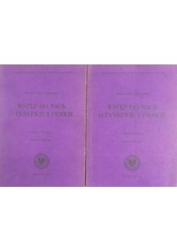 Wstęp do nauk o państwie i prawie cz.1 - 2 książki