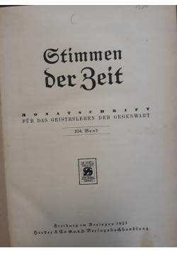 Stimmen der Beit, 1923 r.