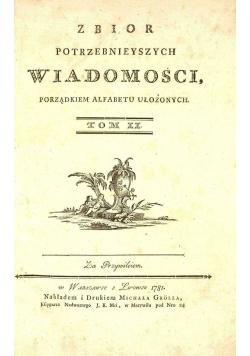 Zbiór potrzebniejszych wiadomości, Tom II, Reprint z 1781 r.
