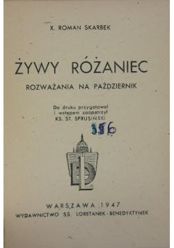 Żywy Różaniec.Rozważania na październik,1947r.