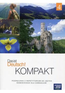 Das ist Deutsch! Kompakt 4 Język niemiecki Podręcznik z repetytorium + 2CD