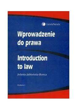 Wprowadzenie do prawa. Introduction to Law