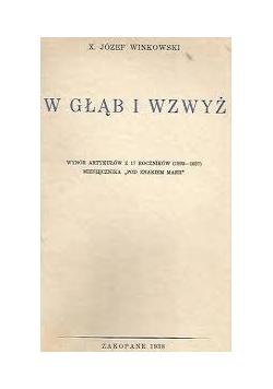 W Głąb i Wzwyż 1938r.