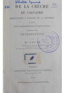 De la Creche au Calvarie,1882r.