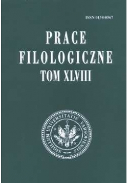 Prace Filologiczne , Tom XLVIII