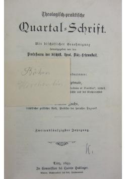 Theologisch praktische quartal schrift, 1899r.