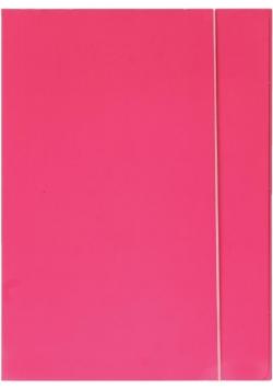 Teczka z gumką A4 600g różowa neon OPTIMA