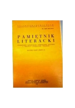 Pamiętnik literacki zeszyt IV