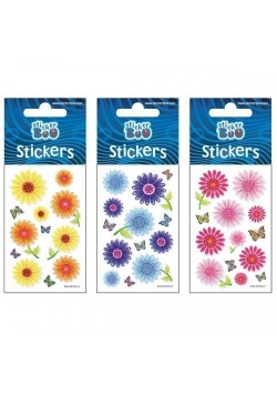 Naklejki Sticker BOO silver kwiaty II