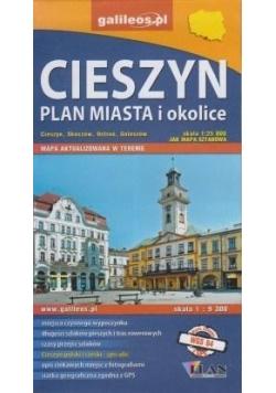 Plan miasta - Cieszyn i okolice 1:9 300/1:25 000