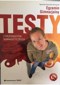 Egzamin gimnazjalny testy z przedmiotów humanistycznych
