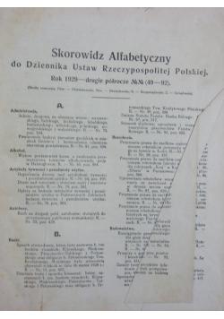 Dziennik Ustaw nr 49 Rzeczpospolitej Polskiej, 1929r.