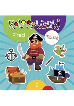 Kolorowanki z naklejkami. Piraci