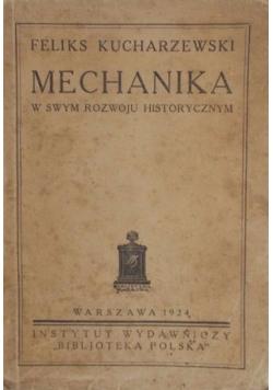Mechanika w swym rozwoju historycznym, 1924 r