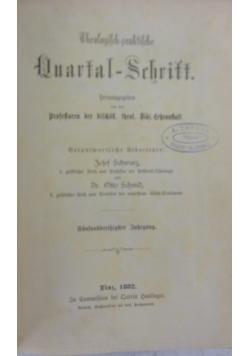 Theologisch praktische Quartal Schrift , 1882r.