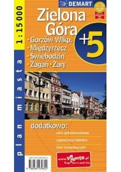 Plan miasta Zielona G./Gorzów Wlkp 1:15 000 DEMART