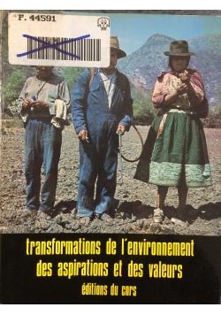 Transformations de l'Environnement, des Aspirations et des Valeurs