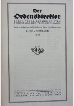 Der Ordensdirektor, organ fur leiter des dritten ordens und der terziarpriester, 1938 r.