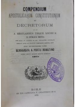 Compendium Apostolicarum Constitutionum,1875r.