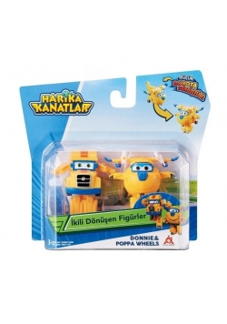 Super Wings 2-pak figurek transf. Donnie & Poppa
