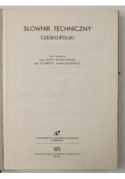 Słownik techniczny: czesko-polski