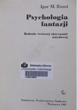 Psychologia fantazji