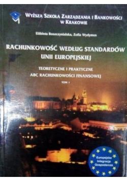 Rachunkowość według standardów Unii Europejskiej, tom I