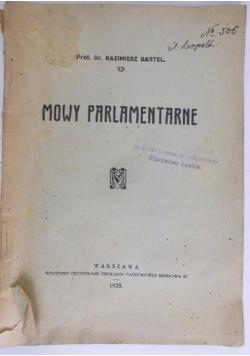 Mowy parlamentarne, 1928 r.