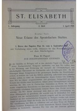 St. Elizabeth 1928-32