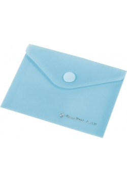 Koperta Focus C4534 A5 przeźroczysta niebieska